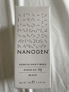 Nanogen Keratin Thickening Hair Fibres 15g, Black 03