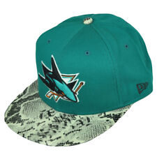 New Era 9Fifty 950 San Jose Sharks Team Snake Faux Snapback M/L Hat Cap Turquoi