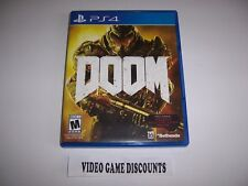 Original Box Case Replacement for Sony PlayStation 4 PS4 DOOM