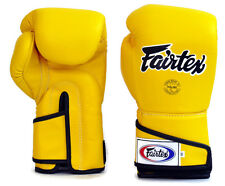 Fairtex Muay Thai Boxing Gloves BGV6 Stylish Angular Sparring Yellow 12 14 16