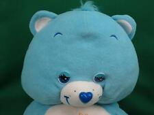BIG JUMBO BEDTIME CARE BEAR HUGGABLE PILLOW BLUE MOON YELLOW STAR PLUSH STUFFED