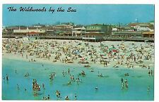 BOARDWALK from HUNTS PIER Wildwoods By the Sea NEW JERSEY NJ POSTCARD