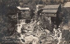 Antique REAL PHOTO POSTCARD c1907-09 Lawrence Mill near BELLOWS FALLS, VT 13485