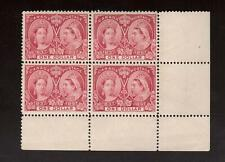 Canada #61 XF Mint Spectacular $1 Jubilee Corner Block **With Certificate**