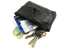 Porte-monnaie noirs en cuir pour femme