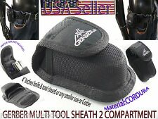 Foling Utility Knife Pouch Gerber CORDURA  BLACK MULTI TOOL SHEATH 2 compartment