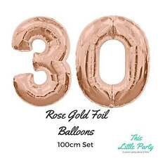 """30th Birthday Party Decorations - Rose Gold 100cm (40"""") Giant Foil Balloon Kit"""
