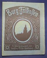 Milde Burg Falkenstein 12 Federzeichnungen um 1920 Grafik Kunst Architektur sf