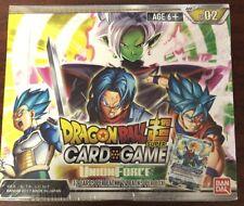 Tarjeta TCG BANDAI Dragon Ball Super Juego Fuerza Booster Box B02 Sellado UNION