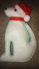 LABRADOR DOG in SANTA HAT handcrafted DOOR HANGER felt Christmas tree decoration