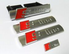 Audi s line Grill +2 emblème volant logo autocollant s q a 1 3 4 5 6 7 sline Badge