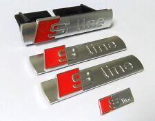 Audi S Line Grill +2 Emblem Lenkrad Logo Aufkleber S Q A 1 3 4 5 6 7 Sline badge