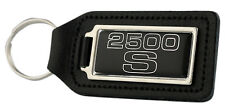 Triumph 2500 'S' Rectangle Black Leather Keyring