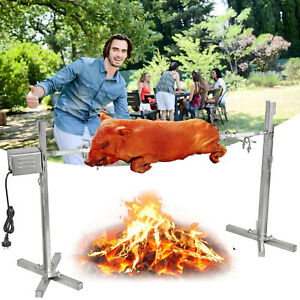 Spit Roaster Rotisserie Pig Lamb Roast BBQ Portable Picnic Outdoor Cooker Grill2