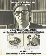Publicité Advertising 088  1975   rasoir éléctrique grille fine 3 tetes Philips