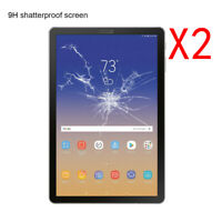 2 PCS Tempered Glass Screen Protector Film Guard For Samsung Galaxy Tab S4 10.5""