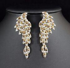 Angel Wings Gold Austrian Rhinestone Chandelier Dangle Earring Prom Bridal E16g