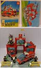 Game Gioco LEGO City Town 1990 Compl. 6389 Caserma Pompieri Fire Control Center