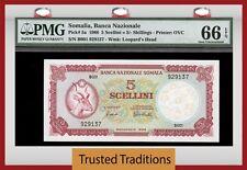 TT PK 5a 1966 SOMALIA 5 SCELLINI = 5/- SHILLINGS PMG 66 EPQ GEM ONLY ONE FINER
