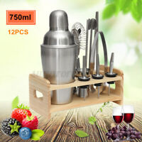 750ML Pro Cocktail Shaker Set Drink Maker Mixer Bar Tool Martini Bartender Kit