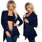 New Sexy Women's Cardigan Jumper Jacket Knitwear Outerwear Size 6 8 10 XS S M