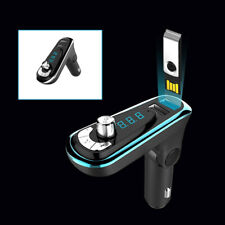 Car SUV Hands-free Wireless Bluetooth FM Transmitter MP3 Player Dual USB Charger