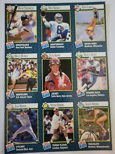 9/92 Sports Illustrated For Kids Uncut Sheet #73-81 Troy Aikman, Marcus Allen
