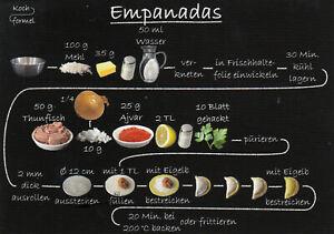 Karte: bebildertes Rezept Empanadas