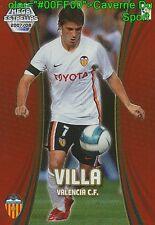 379 DAVID VILLA ESPANA VALENCIA.FC ESTRELLAS TARJETA CARD MGK LIGA 2008 PANINI