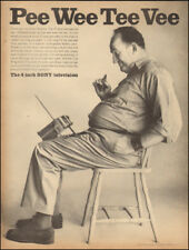 Vintage ad for Sony Television`4 inch Pee Wee Tee Vee Man chair      030818)