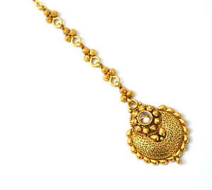 Indian Ethnic Traditional Design Golden Plated Mang Tikka Fashion Jewelry d3