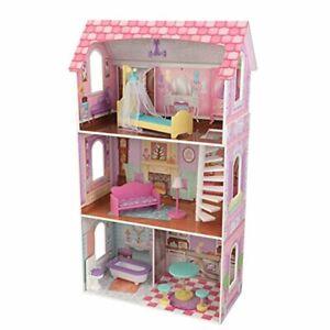 Play House Doll Dollhouse Mansion with Furniture Casa De Muñecas Con Muebles