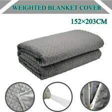 Weighted Blanket Cover 152×203CM Minky Dot Zipper Duvet Bedding Bag Quilt Cover