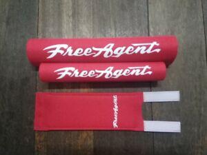 FREEAGENT red padset BMX oldschool vintage RARE