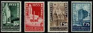 Belgium 1934 Exposition in Brüssels - Complete Set Of Four Stamps - MUH/MLH