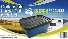 Supex Large Collapsible Tub with Lid CLP25