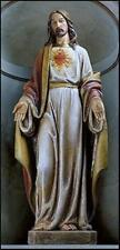 The Most Sacred Heart of Jesus Christ Resin Church Size Statue, 48 Inch