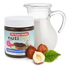 NutiLight No Sugar Added Hazelnut Spread & Milk Chocolate 312 g, Low Carb
