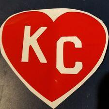 I loveThe KC chiefs NFL Kansas City Chiefs Football Vinyl Decal red