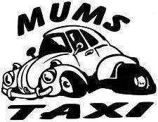 FUNNY DIVERTENTE mamme TAXI BEETLE GOLF POLO VW ragazza Auto Adesivo In Vinile Decalcomania Grafica