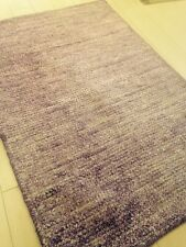 Modern Spectacular Hand Made Area Rug Soumac Solid Flat Woven  Purple New 2x3