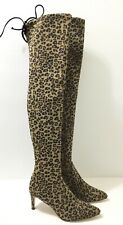 NEW $750 STUART WEITZMAN Leopard Stretch Lycra OVER THE KNEE Janille BOOTS 38.5g