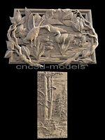 3D STL for CNC Router Engraver Carving Artcam Aspire Duck Lake Forest 195