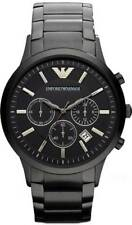Emporio Armani AR2453 Men's Black Stainless Steel Chronograph Ion Plated Watch 1