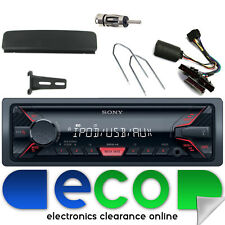Ford Fiesta 95-02 SONY USB Aux Ipod Car Stereo Silver Facia & Steering Interface