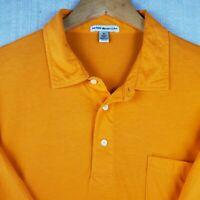 PETER MILLAR Size XL Mens Orange Golf Casual Polo Shirt Short Sleeve Soft Thin