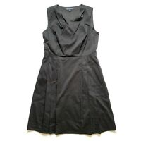 Brooks Brothers Women's Black Dress A Line Pleated Sleeveless Size 10 $198 NWOT