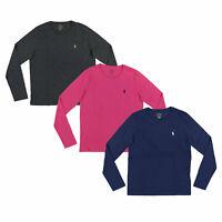 Polo Ralph Lauren Long Sleeve Jersey T-shirt Womens Crew Neck Tee M L New Nwt