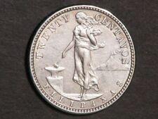 PHILIPPINES 1907S 20 Centavos Silver XF-AU