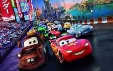 A4 Size High Quality Canvas Art Print Disney Cars Cartoon Movie Home Decor Boys